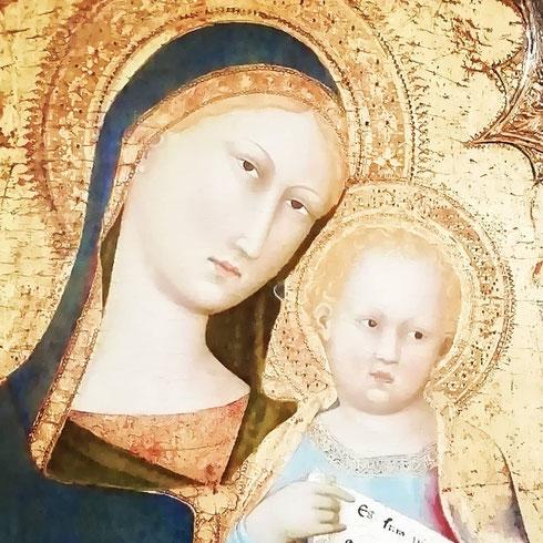 È del cosiddetto maestro della Madonna di palazzo Venezia (ma esposto a palazzo Barberini) l'ultimo dipinto della settimana...quanti pittori rimasti ancora senza identità...chi sarà il misterioso maestro?