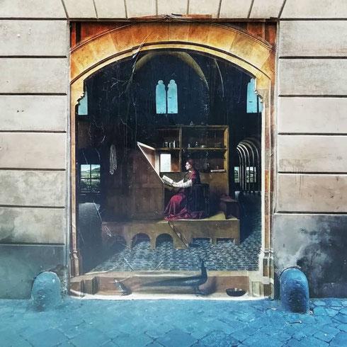 Dove poteva mettersi a studiare San Girolamo se non a un passo da piazza dell'Enciclopedia Italiana?