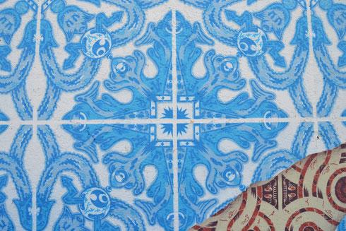 Un pezzetto della magica Lisbona a Roma, all'inizio di via Flaminia, ad opera del portoghese ADDFUEL (o Diogo Machado, fate voi...)