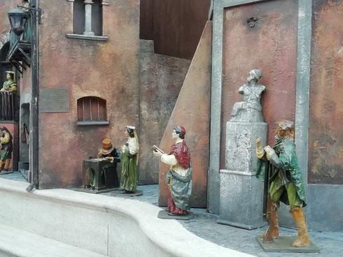 C'è anche Pasquino nel presepe di piazza di Spagna...avrà qualcosa da ridire?