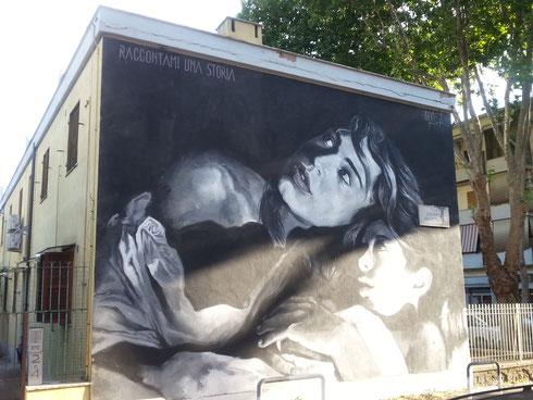 Via Mezzofanti: Louis Gomez porta la street art a Primavalle col progetto Muracci Vostri.