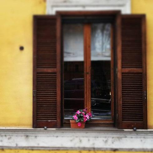 Ci sono anime sulle quali viene voglia di affacciarsi, come ad una finestra piena di sole (Garcia Lorca, in collaborazione con una finestra di via della Lungara)