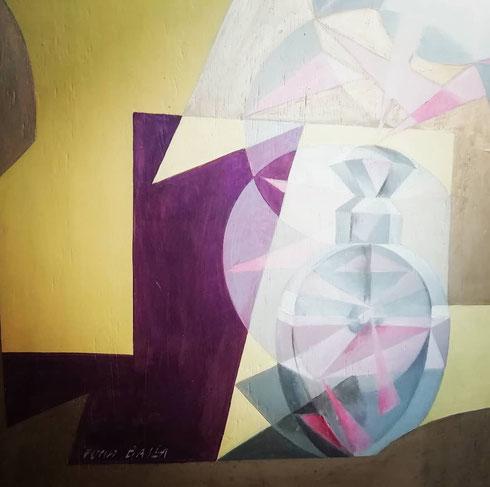 Tutto è pronto a palazzo Merulana per la mostra su Giacomo Balla che apre al pubblico giovedì 21 marzo. In esposizione anche il suo vaprofumo, il quadro che sembra di poter annusare, e che nasconde un'altra opera sul verso...