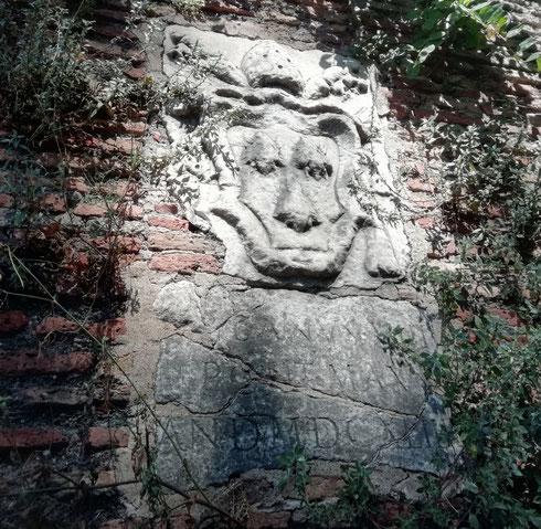 In viale delle mura Portuensi lo stemma di papa Urbano VIII è diventato un volto basito che sbircia i passanti