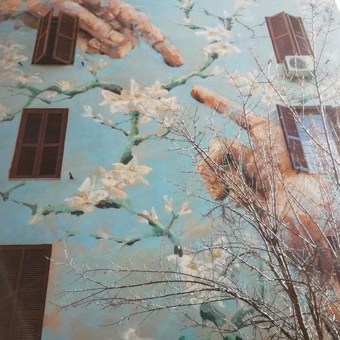 Distanza uomo natura è il tema che Jerico, street artist italiano di origini filippine, ha scelto per Tor Marancia