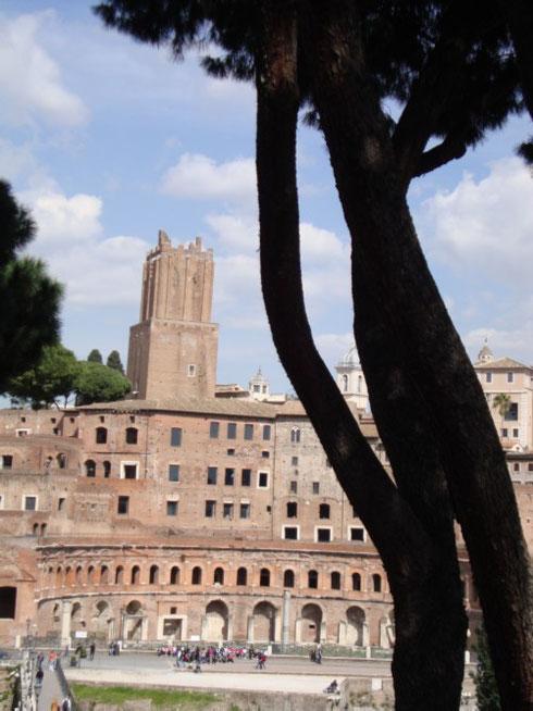 C'è una bella differenza tra i nostri mercati rionali e la spettacolare scenografia architettata da Apollodoro di Damasco per i mercati di Traiano...quasi quasi viene voglia di fare la spesa qui! Ce l'avranno il prezzemolo?