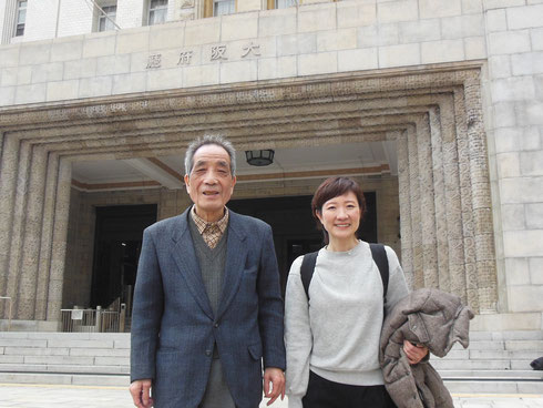 「淀川たすけあい」でご一緒している森さんと大阪府庁前にて