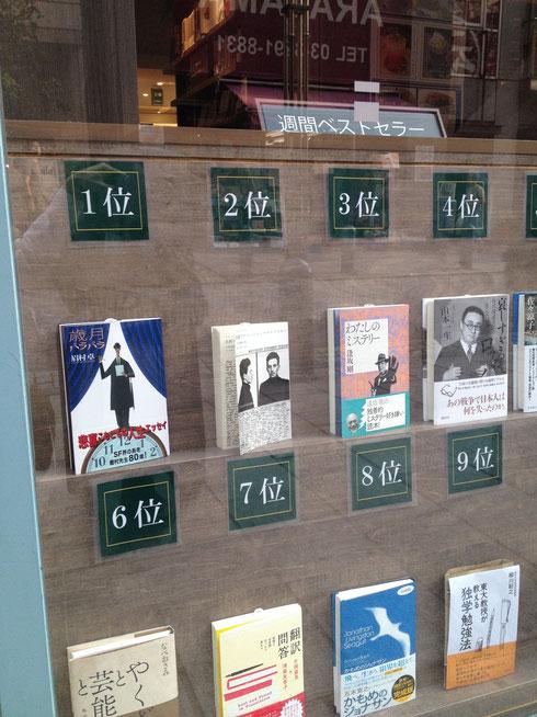 東京堂書店正面ウインドウにマヤコフスキーが登場!