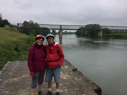 Le tout début du canal latéral à la Garonne