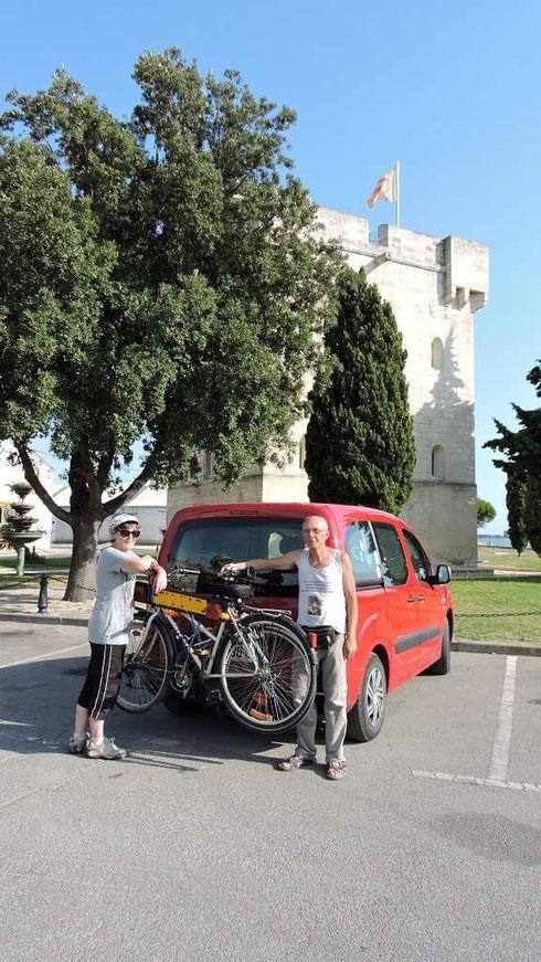 Photo Robert Buffet, lors de notre arrivée à Port Saint Louis après avoir parcouru la ViaRhôna