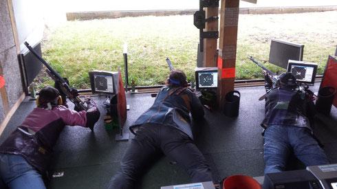 Die Schützen der Handlader im Einsatz