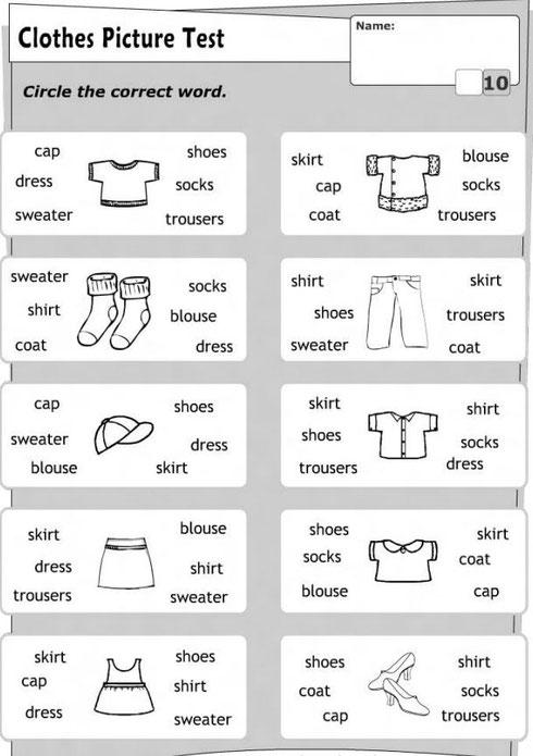 "Слова по теме ""Clothes"""