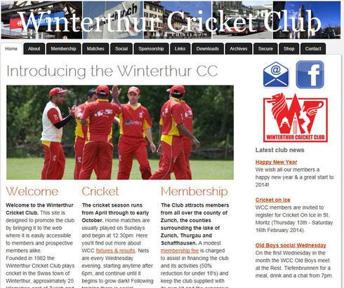 The new WCC website (www.winterthurcc.ch)