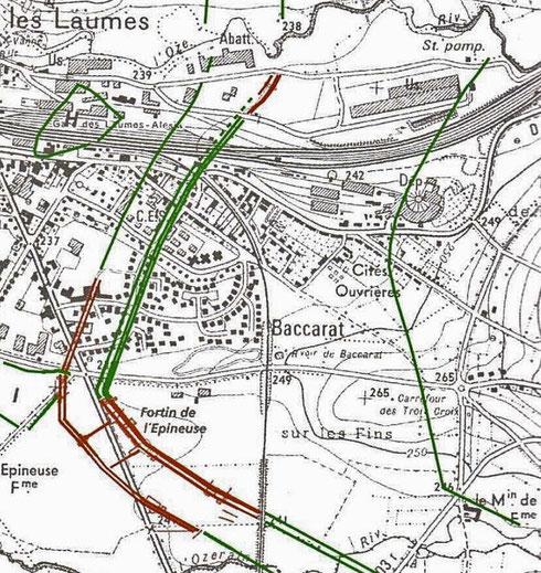 Circonvallation, contrevallation et fossé de 20 pieds. Crédit: Fouilles franco-allemandes  (1991-1997).