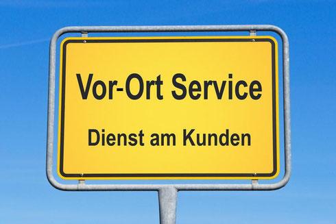 Gern stimmen wir einen Vor-Ort Termin mit Ihnen ab: Vor-Ort-Service