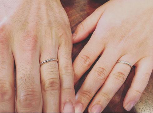 結婚指輪 星の砂