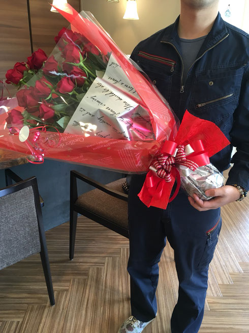 花束プロポーズ