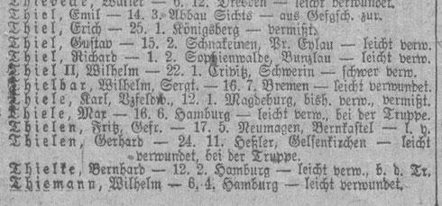 Verlustlisten 1. WK auf genealogy.net