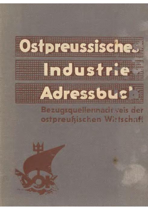 Ostpreußisches Industrie-Adressbuch 1936