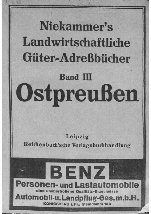 Niekammers Güteradressbuch Bd. 3, Leipzig 1921