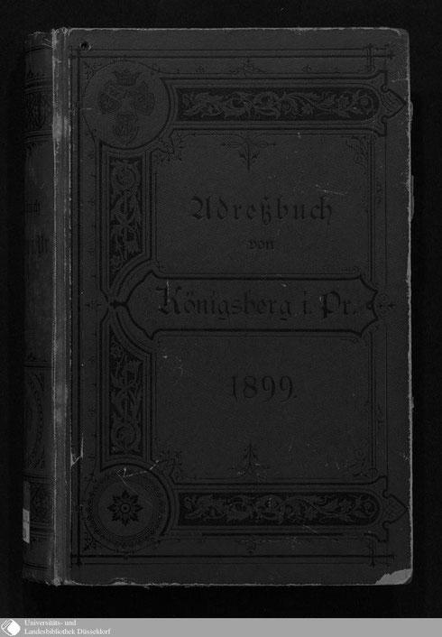 Adressbuch Königsberg 1899