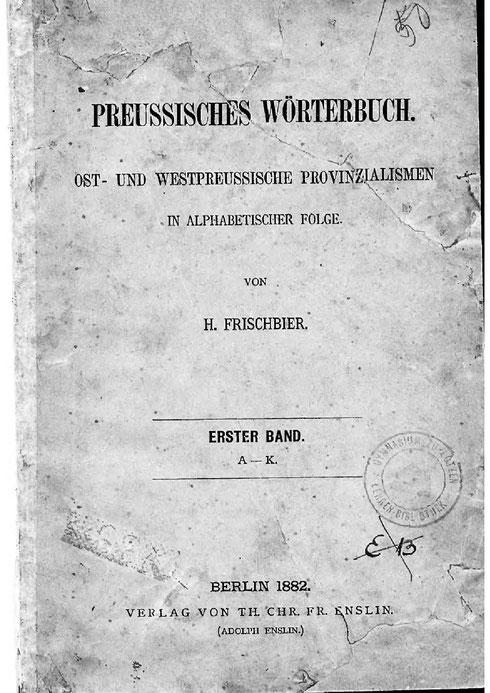 Preußisches Wörterbuch 1882
