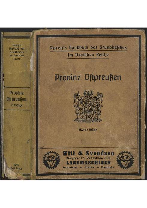Parey´s Handbuch des Grundbesitzes 1929
