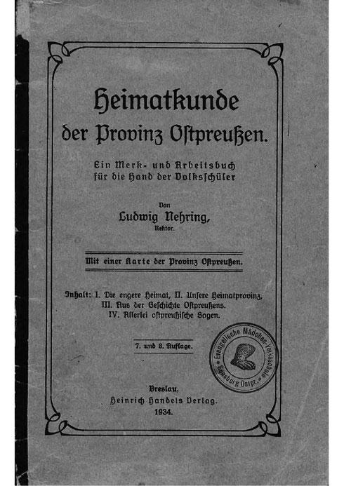 Heimatkunde Ostpreußen 1934