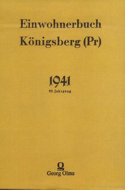 Adress- Einwohnerbuch Königsberg 1941