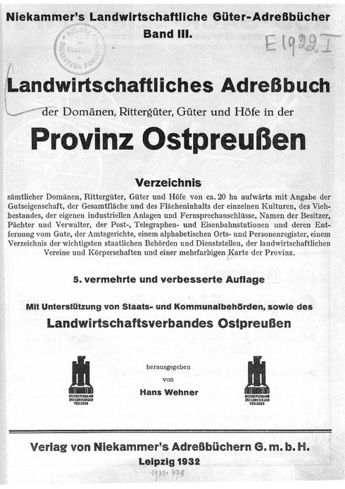 Niekammers Güteradressbuch 1932