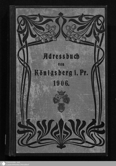 Adressbuch Königsberg 1906