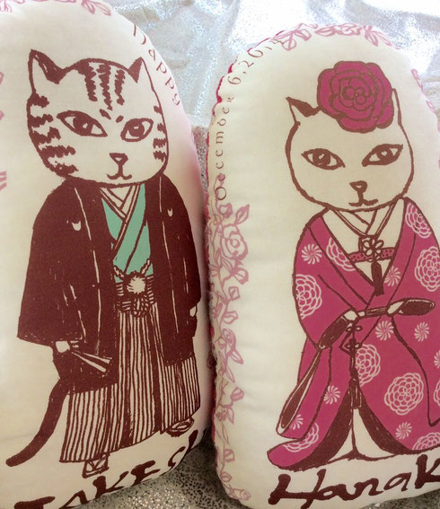 猫夫婦のウェルカムドール/和装