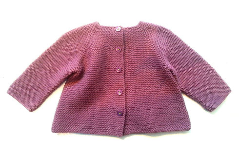 Babyjäckchen in Rosy Green Wool