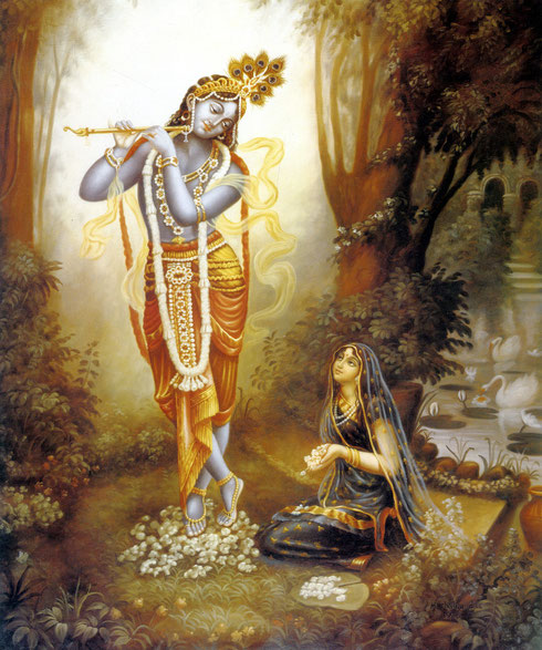 Source of all beauty -Radha and Krsna