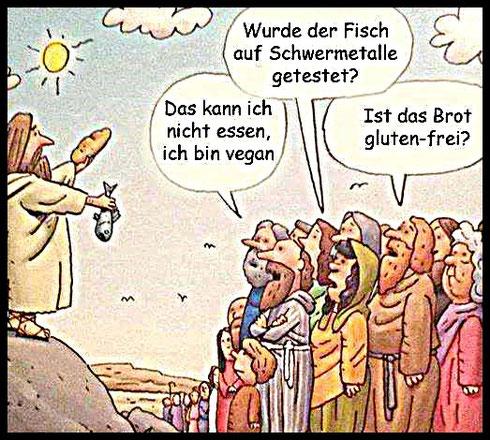 Jesus Brot Fisch Menschen