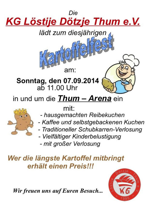 Kartoffelfest 2014 Flyer