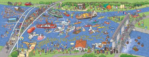 Stadt-Werbung Weil am Rhein - Puzzle, Format 95 x 37 cm