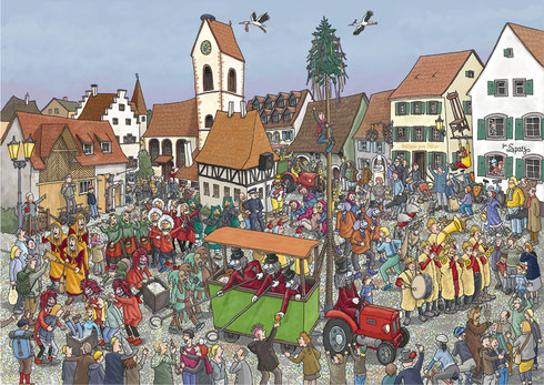 Stadt-Werbung Weil am Rhein - Wimmelbuch: Fasnacht