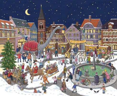 Riesen-Adventskalender 2012, Format 55x63cm