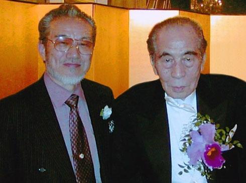 今井重幸(左) 伊福部昭先生