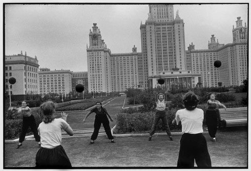 SOVIET UNION. Moscow. 1954. Moscow State University main building