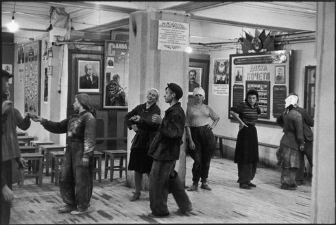 SOVIET UNION. Moscow. 1954. Canteen for workers building the Hotel Metropol