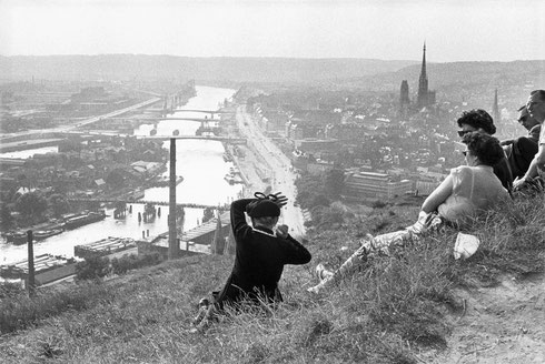 FRANCE. Haute-Normandie. Seine-Maritime. Rouen. The Seine river. 1955.