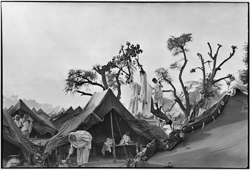 INDIA. Punjab. Kurukshetra. A refugee camp for 300.000 people. Autumn 1947