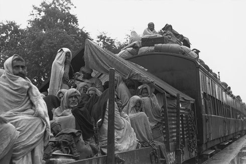 INDIA. North India. Kuinkshaha. 1947. Muslim refugee train from Delhi to Lahore (Pakistan)