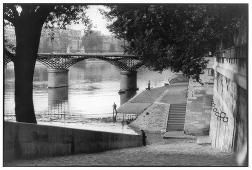 FRANCE. Paris. The Pont des Arts bridge. 1955