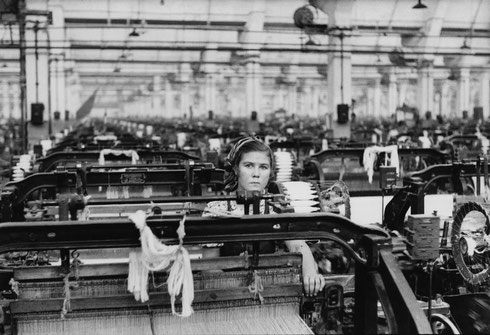 OVIET UNION. Moscow. 1954. Textile factory
