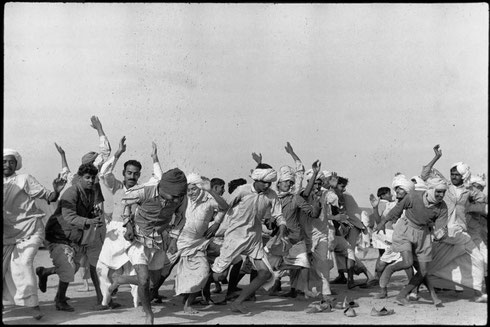 INDIA. Punjab. Kurukshetra. A refugee camp for 300.000 people. Refugees exercising in the camp to drive away lethargy and despair. Autumn 1947