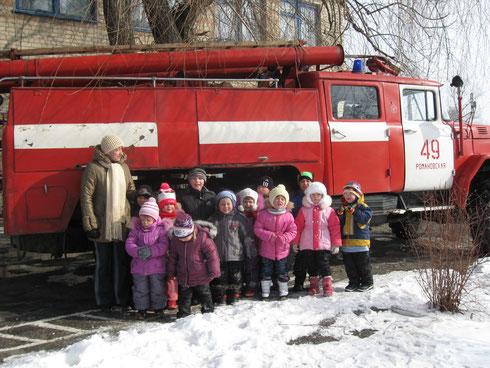 Знакомство с пожарной машиной