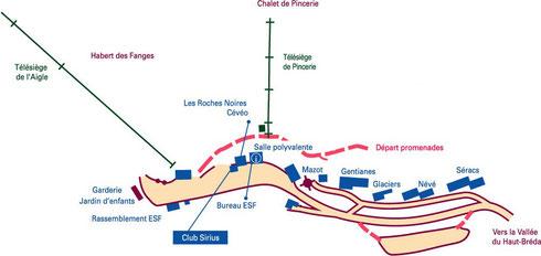 Plan de la station du Pleynet